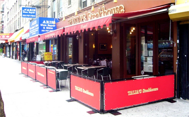 Sidewalk Partitions & Barricades - New Jersey Awnings